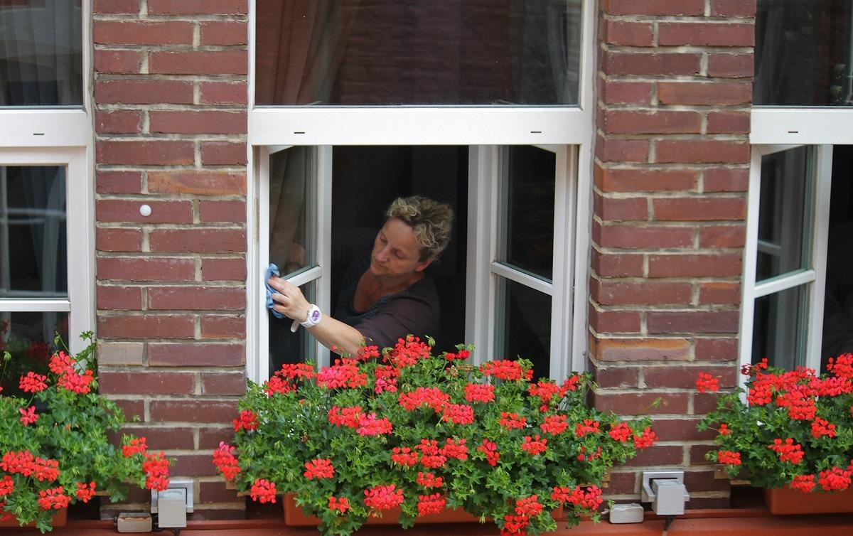 Pani myje okno