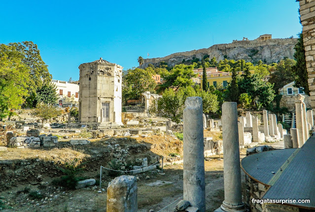 Torre dos Ventos, no Bairro de Pláka, Atenas