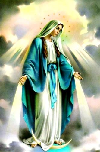 """Imagen de la madre de Jesús """"Virgen María"""" en el cielo"""