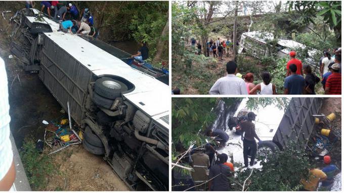 Caída de un autobús desde un puente deja 15 muertos y 50 heridos en Panamá
