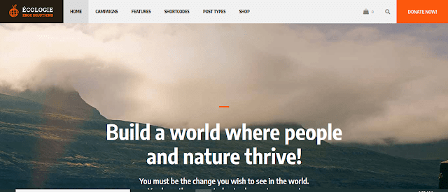 Best Nonprofit Environment WordPress Themes With Donation System |  Ecologie