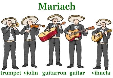 メキシコの伝統的な楽団 マリアッチ