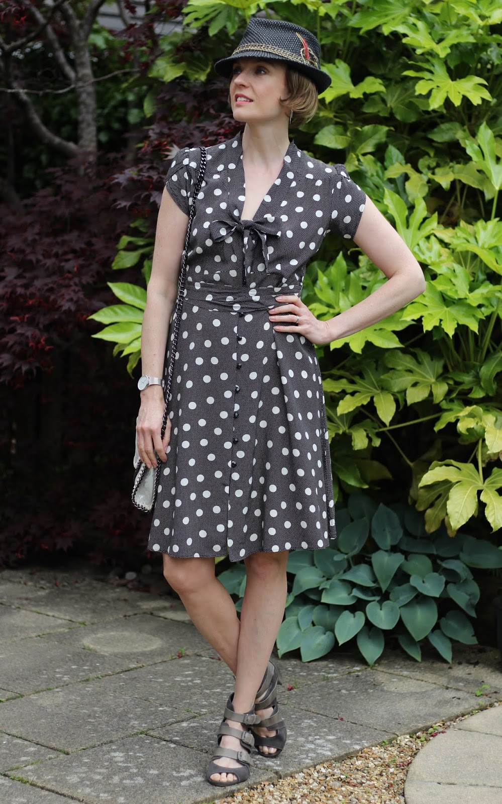 Trilby Hat | Vintage Summer Polka Dots | Summer Outfit | Fake Fabulous