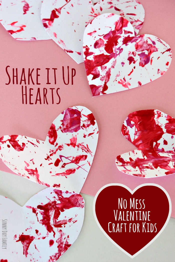 Shake it up hearts no mess valentine craft for for Valentines day art and crafts for preschoolers