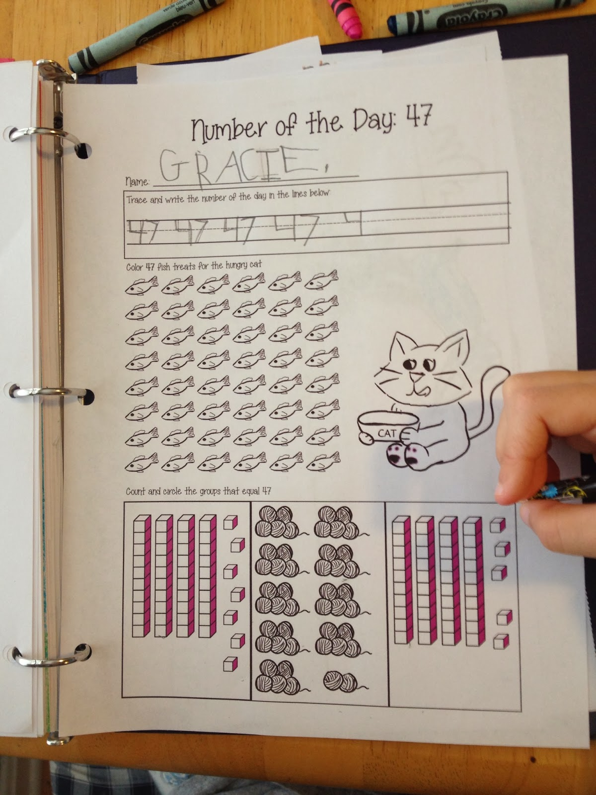 Four Maples Growing Together Number Of The Day Worksheet