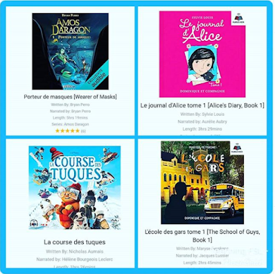 Image of 4 Audibooks suitable as French immersion novels