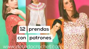12 patrones de ropa de mujer a crochet