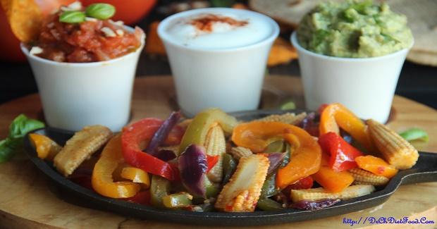 Baby Corn Sizzlers – Fajitas Recipe