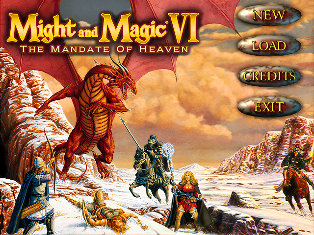 Title screen from Might and Magic 6
