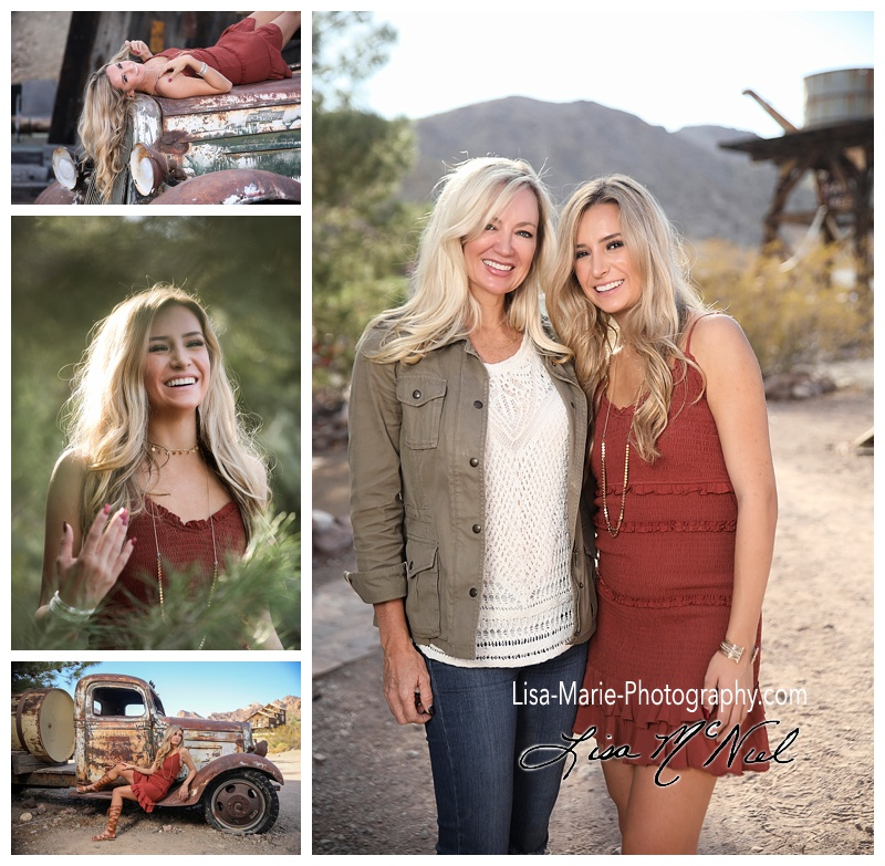 Senior pictures at the Nelson Ghost Town outside Las Vegas