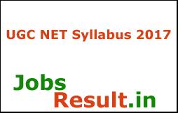 UGC NET Syllabus 2017