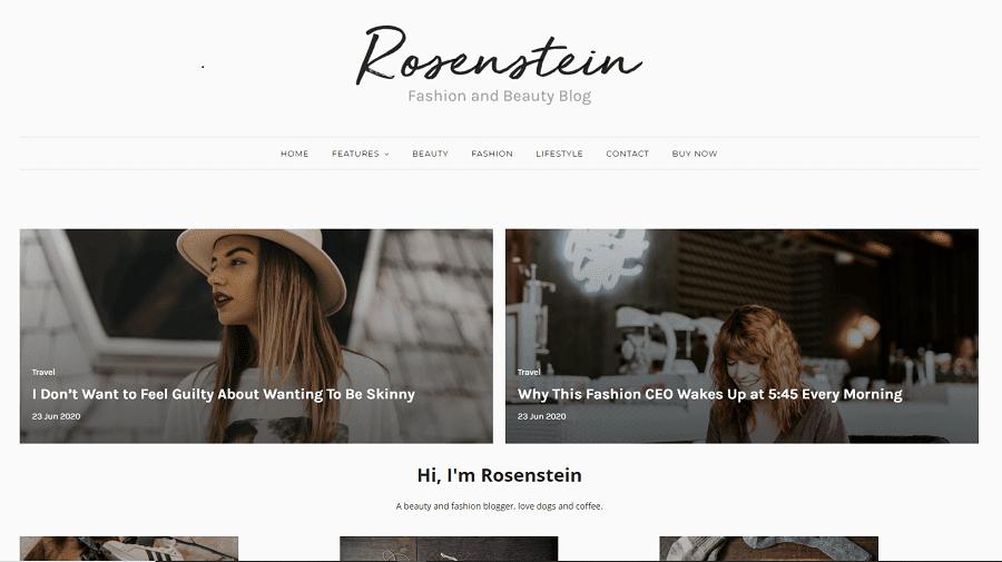 Rosenstein - Responsive Minimal Blogger Template