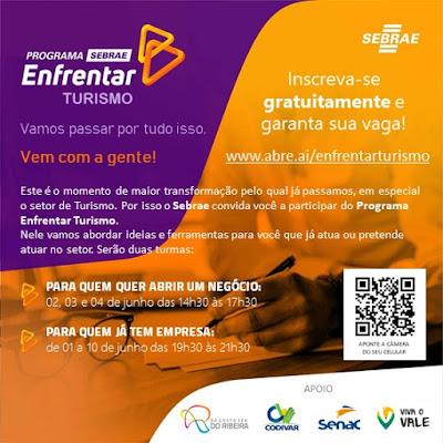 Sebrae-SP lança ações gratuitas para ajudar empreendedores formais e informais do Turismo no Vale do Ribeira
