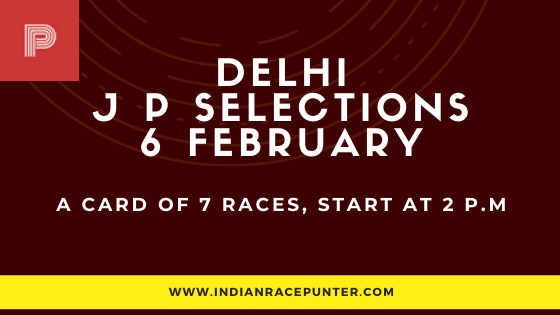 Delhi Jackpot Selections 6 February, Jackpot Selections by indianracepunter,