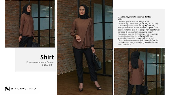 Double Asymmetric Brown Toffee Shirt