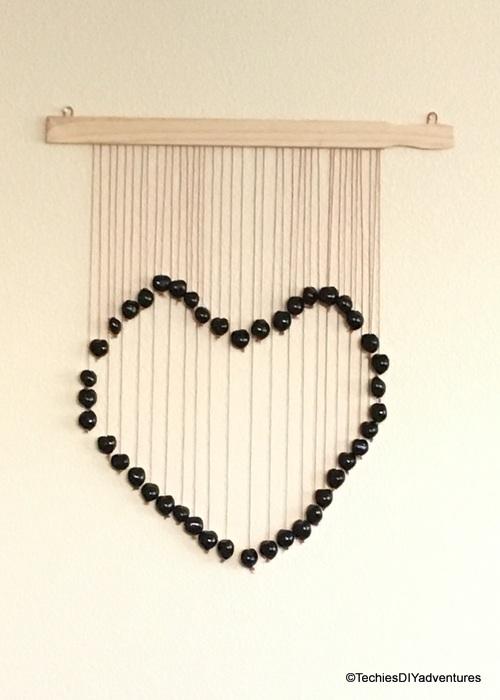 DIY Heart wall decor
