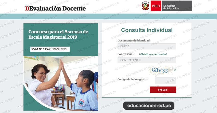 MINEDU: Resultados Finales de la Prueba Única Nacional - Examen de Ascenso 2019 - Educación Básica (22 Noviembre) www.minedu.gob.pe