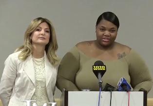 Woman who says Usher exposed her to herpes speaks out at New York press conference. Watch