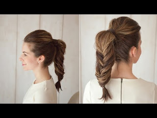 Hairstyle FISHTAIL HIGH PONYTAIL