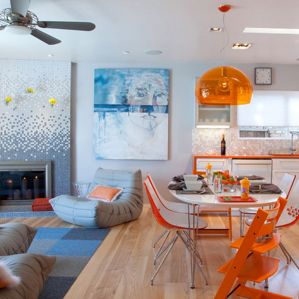 Cozy Home Decoration: Colorful Interior Cozy House In San Diego, Summer Decorations