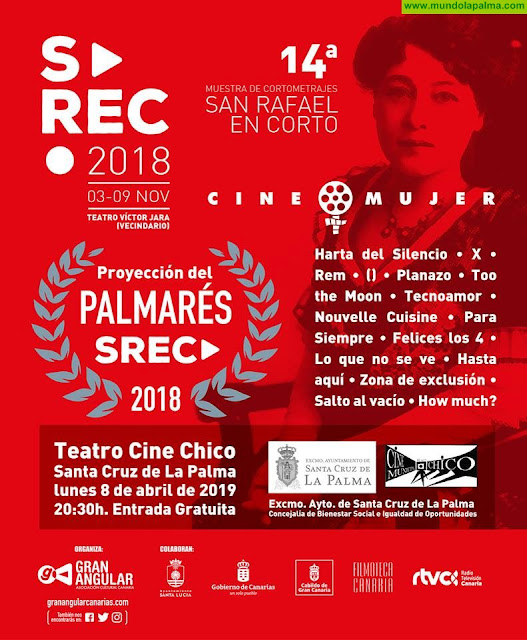 La voz de la mujer en el cine se proyecta en la XIV Muestra de Cortometrajes de San Rafael en Corto en Santa Cruz de La Palma