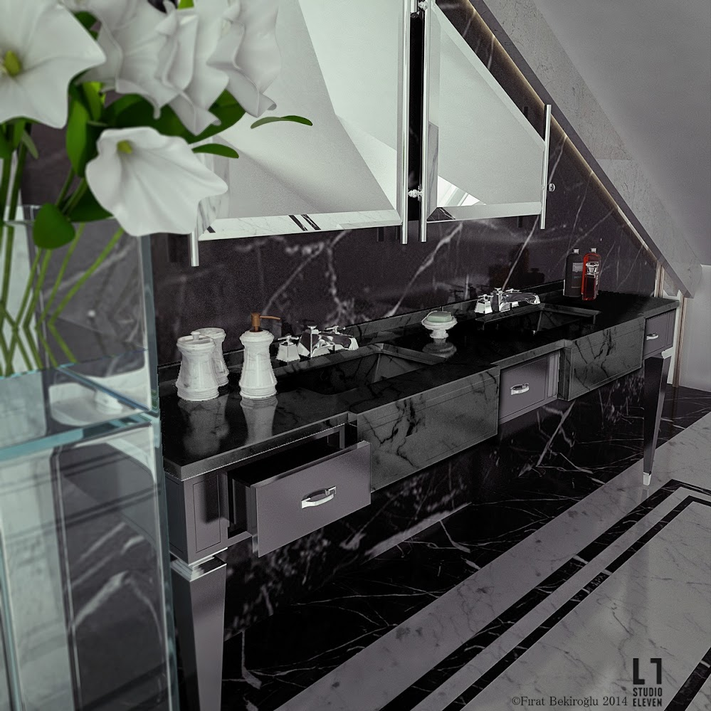 sleek-black-bathroom