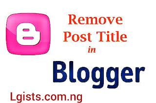 How to remove Blogger titles Blogger