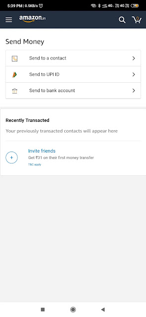 (Earn Money) Amazon Invite and earn ₹31 per user and extra ₹50 on first Money Transfer (Maha Loot) 5