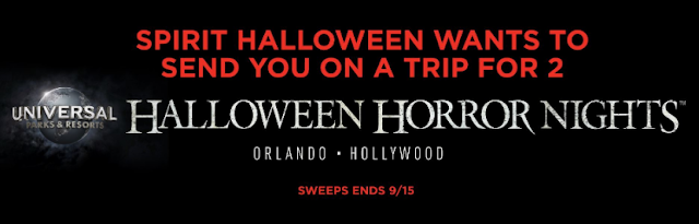 Spirit Halloween will give one lucky winner the chance to choose their own adventure by giving a choice between a horror themed trip to Orlando or Hollywood!