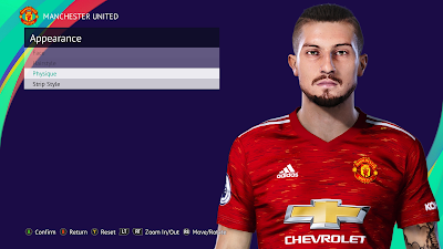 PES 2021 Faces Alex Telles (Ponytail) by SR