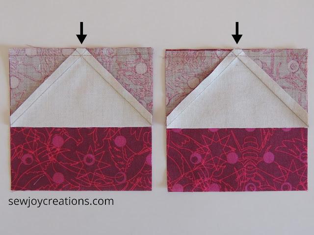 fudging a seam allowance Dazzle Quilt Sew Joy Creations