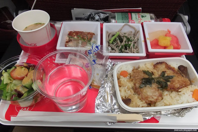 """jal-787-jl414 エコノミークラス機内食""""カツ丼"""""""