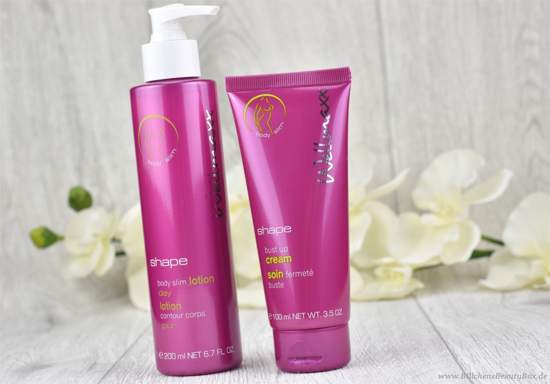 Review Wellmaxx Shape Bust Up Cream und Shape Body Slim Lotion Day