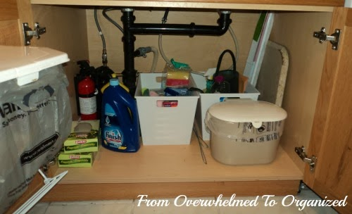 Tips For Organizing Under The Kitchen Sink From Overwhelmed To Organized Tips For Organizing Under The Kitchen Sink