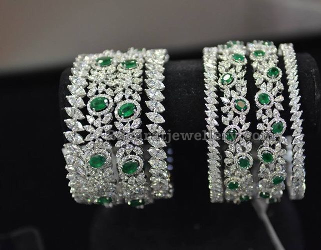 bangles swarnakshi shop emerald jewels ruby diamond and n shaped home