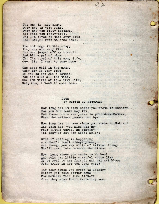 miss gee poem