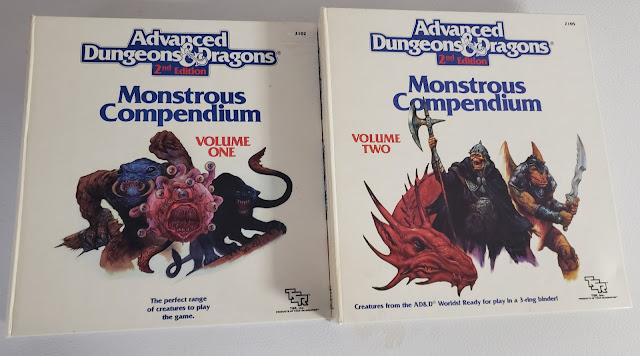AD&D Monstrous Compendiums