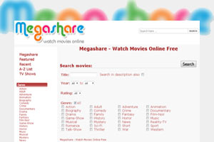 Freely accessible movies on Megashare