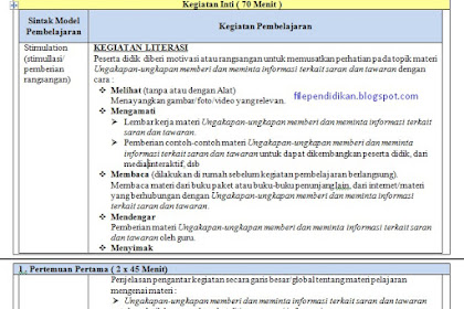 RPP Bahasa Inggris Kurikulum 2013 Kelas XI Revisi