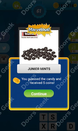 Answers, Cheats, Solutions for Guess the Candy Level 61 for android and iphone