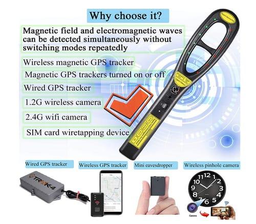 KAXYUYA 007 GPS Tracker Detector Hidden Camera Bug