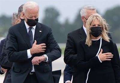 Biden Slammed for Checking Watch during Ceremony for Troops Killed in Kabul Blast