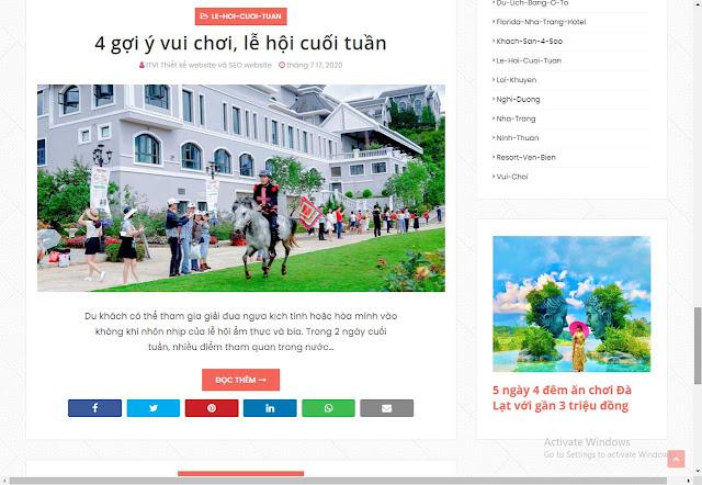 Mẫu website review địa điểm