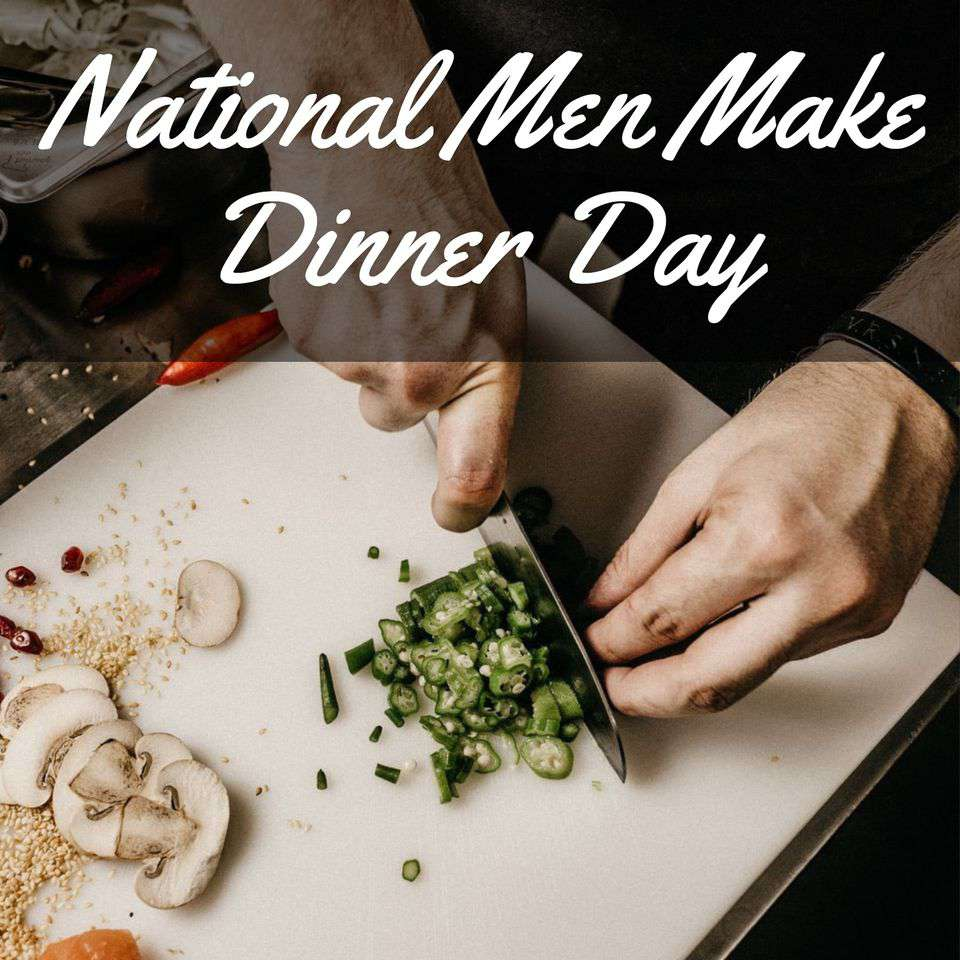 National Men Make Dinner Day Wishes Beautiful Image