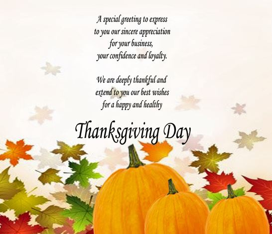 Thanksgiving Card Wishes