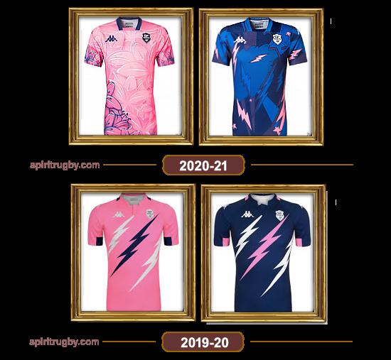 Histoire du maillot de rugby de Stade Français