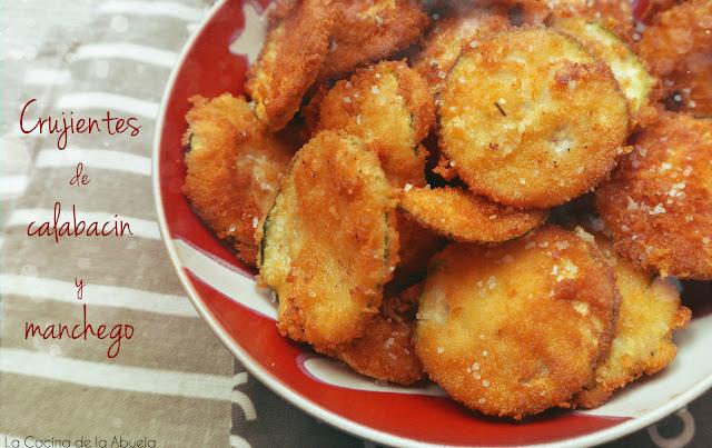 Crujientes calabacín queso manchego chips aperitivo