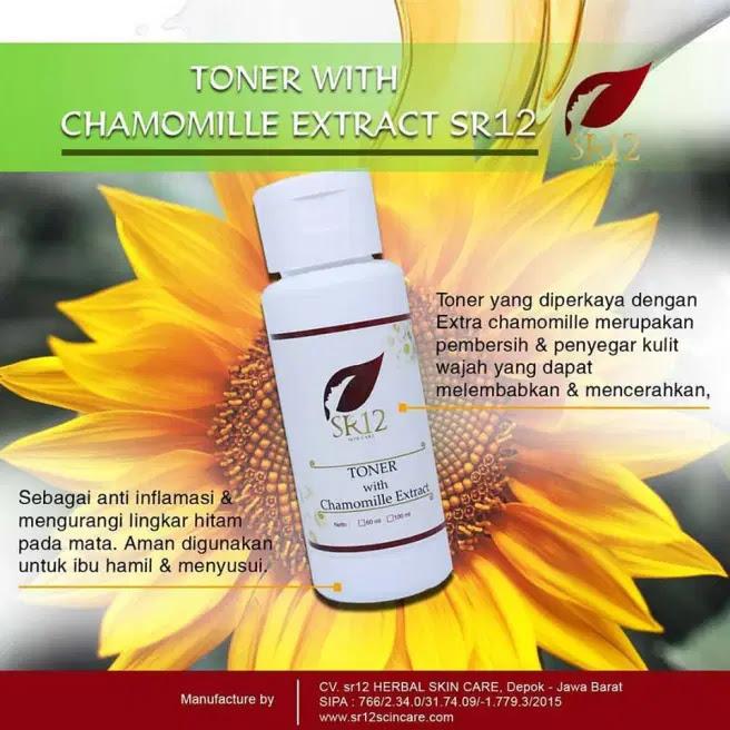 Toner With Chamomile Extract SR12 Herbal Skincare Untuk Mata Panda