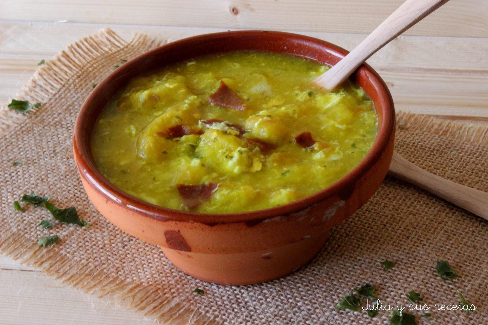 Sopa de jamón y pan. Julia y sus recetas