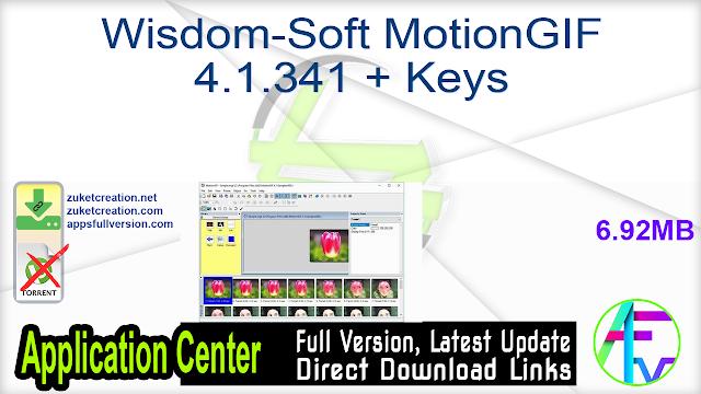 Wisdom-Soft MotionGIF 4.1.341 + Keys